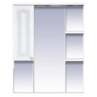 Misty Валерия - 85 зеркало - шкаф белое фактур. левое со светом П-Влр02085-37СвЛ
