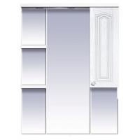 Misty Валерия - 75 зеркало - шкаф белое фактур. правое со светом П-Влр02075-37СвП