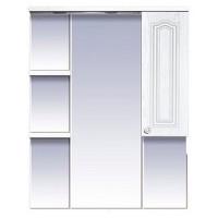 Misty Валерия - 85 зеркало - шкаф белое фактур. правое со светом П-Влр02085-37СвП