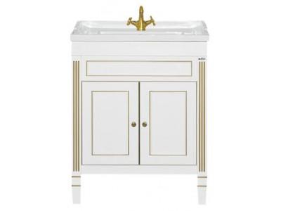 Мебель для ванной Misty Женева 70 тумба белая патина П-Жен01070-013Пр