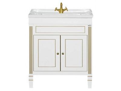 Мебель для ванной Misty Женева 80 тумба белая патина П-Жен01080-013Пр