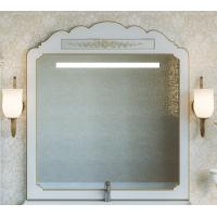 Зеркало Misty Milano 120 белое патина/декор Л-Мил02120-013