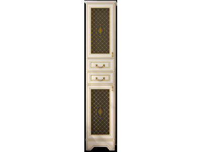 Мебель для ванной Misty Ницца 40 L с 2-мя ящиками белый патина Л-Ниц05040-013Л