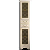 Шкаф - пенал Misty Ницца 40 R с 2-мя ящиками белый патина Л-Ниц05040-013П