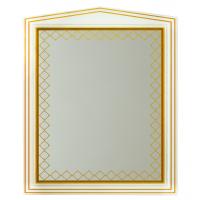 Зеркало Misty Ницца 80 белое патина Л-Ниц02080-013