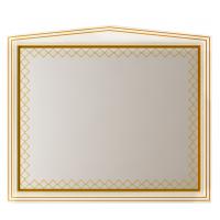 Зеркало Misty Ницца 120 белое патина Л-Ниц02120-013