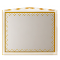 Зеркало Misty Ницца 100 белое патина Л-Ниц02100-013