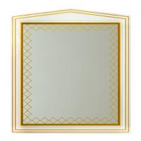Зеркало Misty Ницца 90 белое патина Л-Ниц02090-013