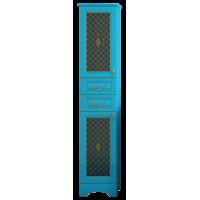 Шкаф - пенал Misty Ницца 40 L с 2-мя ящиками бирюзовый патина Л-Ниц05040-093Л