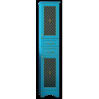 Шкаф - пенал Misty Ницца 40 R с 2-мя ящиками бирюзовый патина Л-Ниц05040-093П