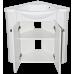Мебель для ванной Misty Олимпия - 60 Тумба угловая белая факт. П-Оли01060-012Уг