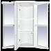 Мебель для ванной Misty Олимпия - 60 Зеркало - шкаф угловое лев. белое факт. П-Оли02060-012УгЛ