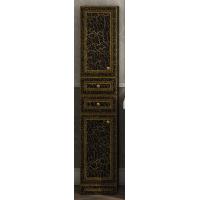 Шкаф - пенал Misty Fresko 35 L с 2-мя ящиками черный патина Л-Фре05035-02172ЯЛ