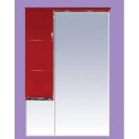 Зеркальный шкаф Misty Петра 65 L красный П-Пет04065-041СвЛ