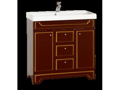 Мебель для ванной Misty Praga  - 75 Тумба с 3 ящ. бордо патина Л-Пра01075-1033Я