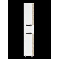 Шкаф - пенал Misty Престиж - 35 Пенал правый белый золотая патина