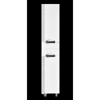 Шкаф - пенал Misty Престиж - 35 Пенал левый белый серебряная патина