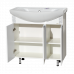 Мебель для ванной Misty Престиж - 80 Тумба прямая белая серебряная патина Э-Прсж01080-014ПрСбп