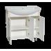 Мебель для ванной Misty Престиж - 80 Тумба прямая белая золотая патина Э-Прсж01080-013ПрЗлп