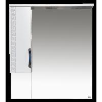 Misty Престиж - 80 Зеркало лев. серебряная патина Э-Прсж02080-014ЛСбп