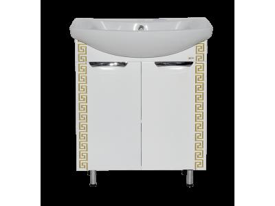 Мебель для ванной Misty Престиж - 70 Тумба прямая белая золотая патина Э-Прсж01070-013ПрЗлп