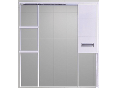 Мебель для ванной Misty Селена  - 90 Зеркало - шкаф прав. R П-Сел02090-01П