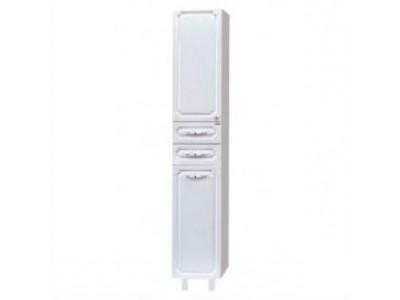 Мебель для ванной Misty Александра - 35 Пенал с Б/К белый металлик лев. П-Але05035-352БкЛ