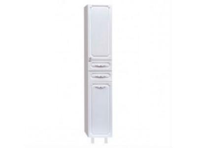 Мебель для ванной Misty Александра - 35 Пенал с Б/К белый металлик прав.  П-Але05035-352БкП
