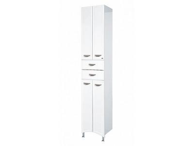 Мебель для ванной Misty Дрея - 40 Пенал 2 ящ. белая эмаль Э-Дре05040-012Я