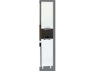 Мебель для ванной Misty Франко - 35 Пенал Венге/белый прав. с корзиной П-Фра05035-252БкП