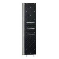 Шкаф - пенал Misty Гранд Lux 35 L черно-белый Cristallo Л-Грл05035-249КрЛ