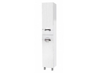 Мебель для ванной Misty Лорд - 35 Пенал ( белая пленка) с Б/К лев. П-Лрд05035-012БкЛ