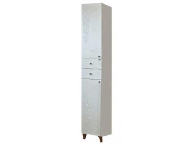 Мебель для ванной Misty Вирджиния (Бабочка) - 35 Пенал лев. белый факт. П-Вир05035-012Л