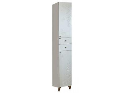 Мебель для ванной Misty Вирджиния (Бабочка) - 35 Пенал прав. белый факт. П-Вир05035-012П