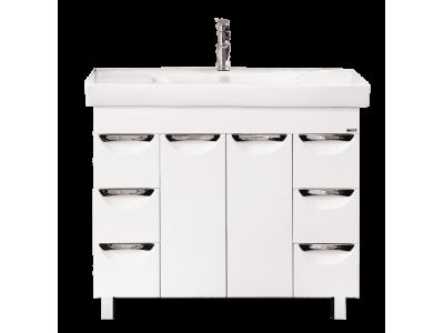 Мебель для ванной Misty София - 100 Тумба с 6  ящ. белая эмаль П-Соф01100-0116Я