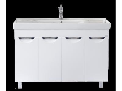 Мебель для ванной Misty София - 120 Тумба прямая белая эмаль П-Соф01120-011Пр