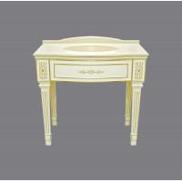 Тумба под раковину Misty Tiffany 100 белая сусальное золото Л-Тиф01100-391