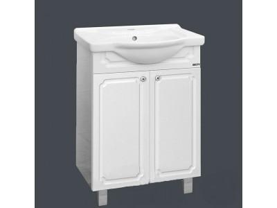 Мебель для ванной Misty Александра - 55 Тумба прямая бел.мет. П-Але01055-352Пр