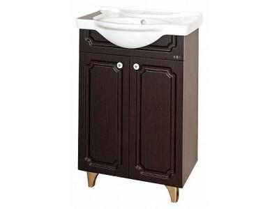 Мебель для ванной Misty Александра - 55 Тумба прямая ВЕНГЕ П-Але01055-052Пр