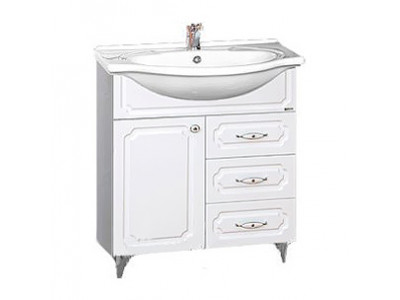 Мебель для ванной Misty Александра - 65 Тумба белый металлик П-Але01065-352