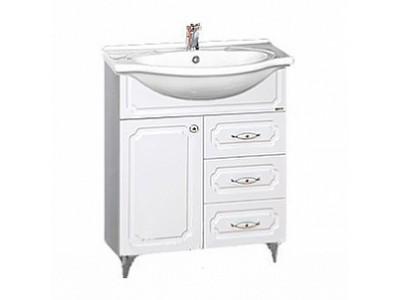 Мебель для ванной Misty Александра - 75 Тумба белый металлик П-Але01075-352