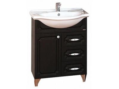 Мебель для ванной Misty Александра - 75 Тумба ВЕНГЕ П-Але01075-052