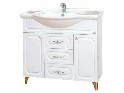 Мебель для ванной Misty Александра - 85 Тумба белый металлик П-Але01085-352