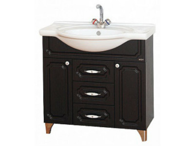 Мебель для ванной Misty Александра - 85 Тумба ВЕНГЕ П-Але01085-052