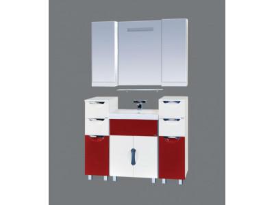 Мебель для ванной Misty Алькор 120 бордо/бежевая П-Аль01120-491Пр