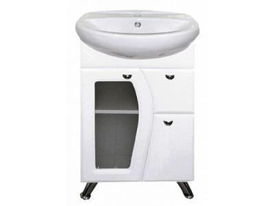 Мебель для ванной Misty Антик -55 Тумба с 1-им ящ.(стекло) Э-Ант010555-011Я10