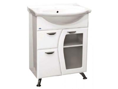 Мебель для ванной Misty Дрея  - 65 Тумба с 1-им ящ.(стекло) Э-Дре01065-011Я