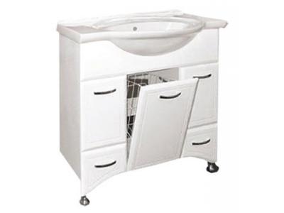 Мебель для ванной Misty Дрея  - 86 Тумба 2 ящ. (корзина) Э-Дре01086-01К2Я