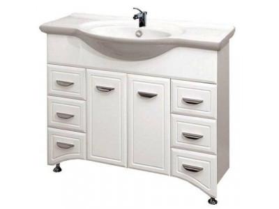 Мебель для ванной Misty Дрея  - 95 Тумба 6 ящ. белая Э-Дре01095-016Я