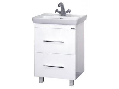 Мебель для ванной Misty Елена -55 Тумба с 2 ящ. направл. с доводчиком П-Еле01055-012Я